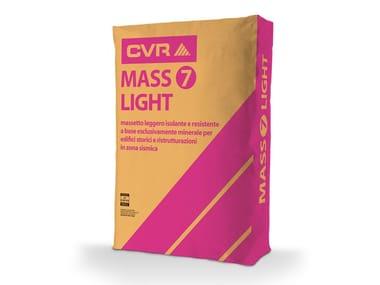 Massetto leggero, isolante e resistente MASS7 LIGHT