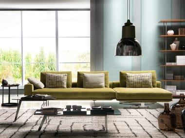Divano componibile in tessuto con chaise longue MASTROIANNI | Divano con chaise longue