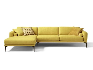 Fabric sectional sofa with backrest with tile mechanism MASÙ | Fabric sofa