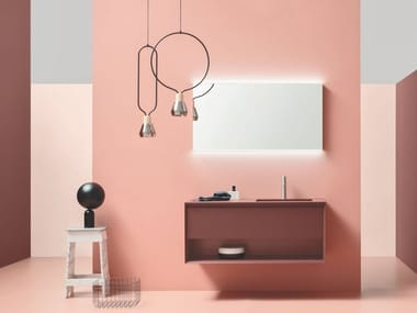 Wall-mounted vanity unit with drawers MATERIA VIP 05
