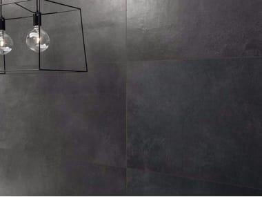 Pavimento/rivestimento in gres porcellanato effetto pietra MATERIE HIGH-TECH - LIGNITE