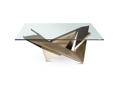 Tavolino quadrato in vetro MATHEMATIQUE   Tavolino