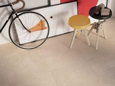Pavimento/rivestimento in gres porcellanato effetto pietra MATRIX BEIGE