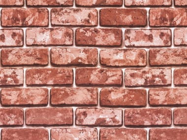 Self adhesive plastic furniture foil with stone effect RED BRICKS