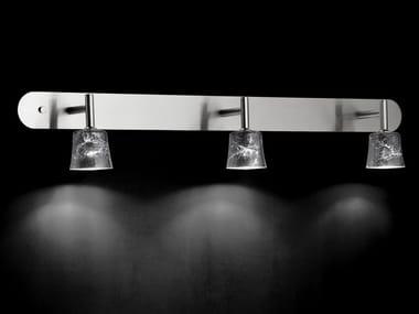 LED glass and metal spotlight MAURO W3