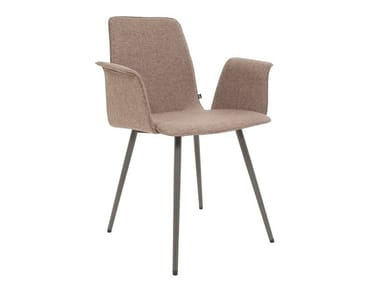 Upholstered chair with armrests MAVERICK | Chair with armrests