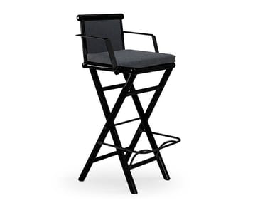 High garden stool with armrests MAXIM PLUS | High stool