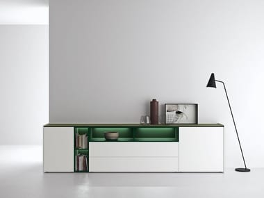 Lacquered sideboard with integrated lighting MAXIMA 06