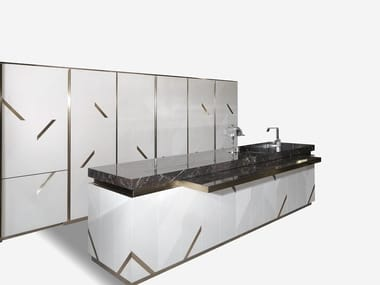 Marble kitchen with island MAYFAIR