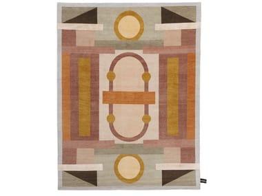 Handmade rectangular rug MAZZOLINO