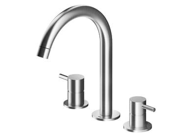 3 hole countertop stainless steel washbasin mixer MB251 | Washbasin mixer