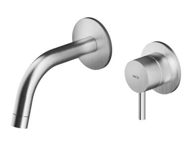 Wall-mounted stainless steel washbasin mixer MB268 | Washbasin mixer