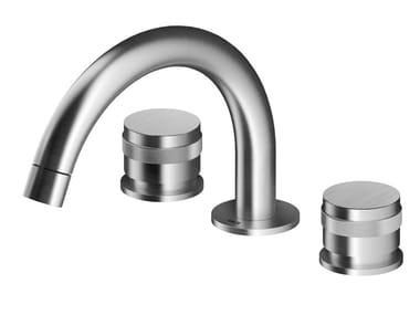 3 hole countertop stainless steel washbasin mixer ER282 | Washbasin mixer