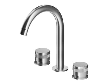 3 hole countertop stainless steel washbasin mixer ER283 | Washbasin mixer