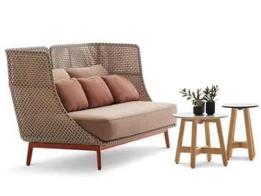 High-back synthetic fibre garden sofa MBARQ