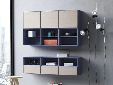 Wall-mounted modular bookcase MBOX