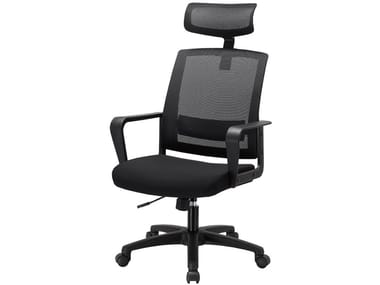 Mesh executive chair with 5-spoke base with headrest MC-1011E