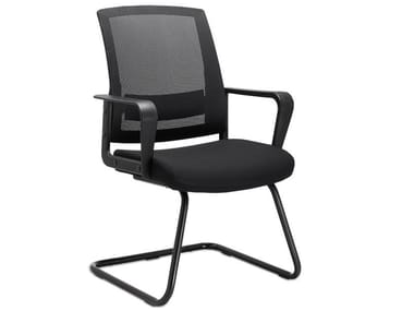 Cantilever chair with armrests MC-1011P