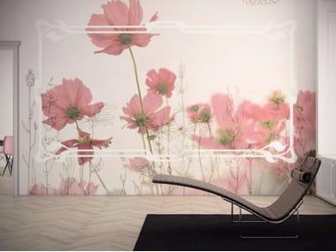 Carta da parati lavabile in vinile con motivi floreali MEADOW