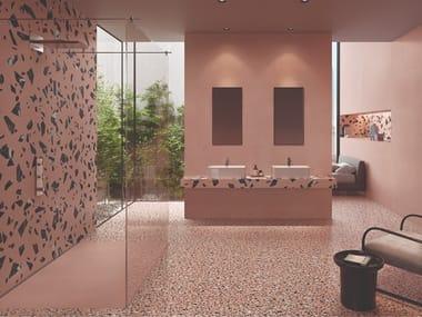 Porcelain stoneware wall/floor tiles terrazzo effect MEDLEY PINK