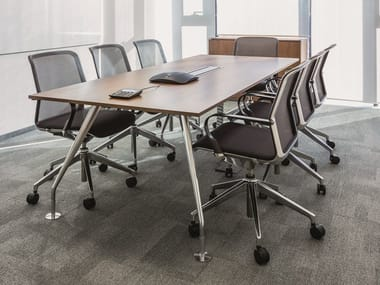 Rectangular meeting table with cable management SLOPE | Meeting table