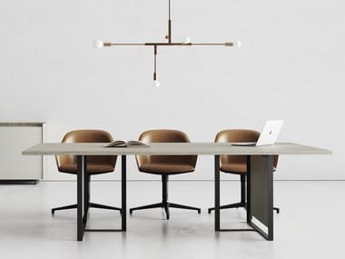 Rectangular laminate meeting table MAGENTA | Meeting table