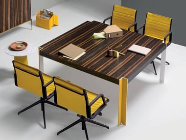 Square wooden meeting table ROGER | Meeting table