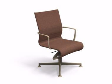 Chaise de bureau pivotante à 4 branches avec accoudoirs MEETINGFRAME 52 - 482