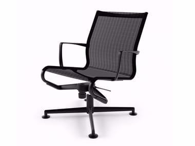 Chaise de bureau pivotante à 4 branches avec accoudoirs MEETINGFRAME LOUNGE 52 - 435