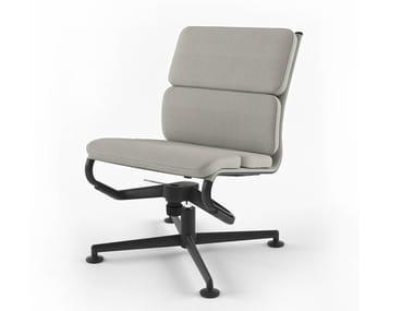 Height-adjustable swivel task chair with 4-Spoke base MEETINGFRAME LOUNGE 52 SOFT - 468