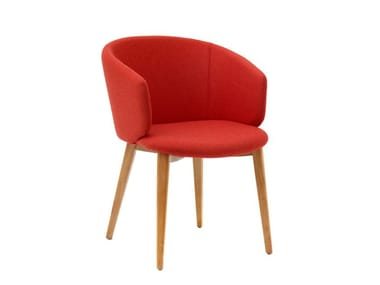 Fabric chair with armrests MEGAN | Chair with armrests