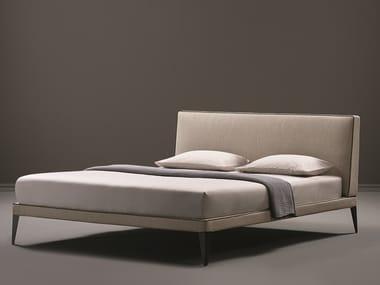 Cama tapizada doble de tela MEGAN | Cama de tela