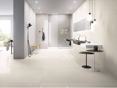 Porcelain stoneware wall/floor tiles with stone effect MEGAWHITE