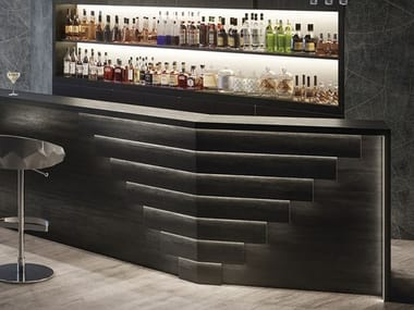 Porcelain stoneware wall tiles with metal effect MEK DARK