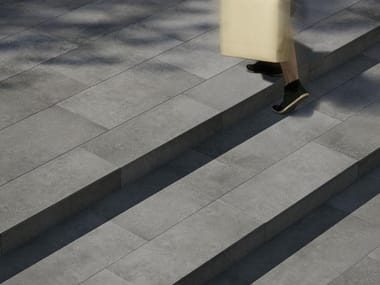 Pavimento per esterni in gres porcellanato effetto cemento MEMENTO 20 | Grigio
