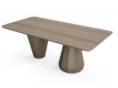 Tavolo rettangolare in rovere MEMENTO | Tavolo rettangolare