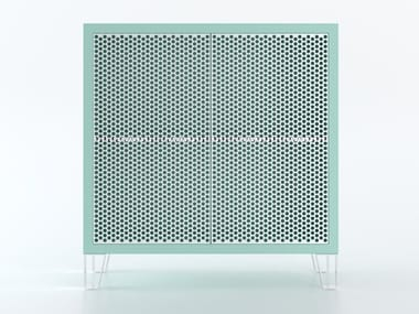HPL decorative Laminate highboard with metal doors MERAVIGLIA | HPL highboard