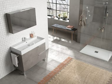 Floor-standing vanity unit with mirror MERCURY 04