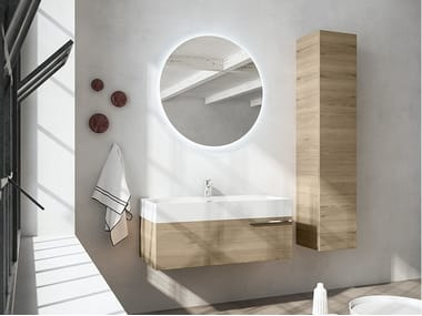 Wall-mounted vanity unit with mirror MERCURY 07