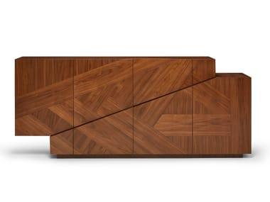 Madia in legno impiallacciato con cassetti MERIDIANO | Madia in legno impiallacciato