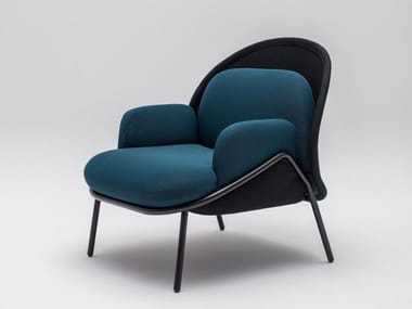 Low-back wingchair MESH | Fabric armchair