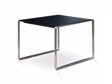 Square garden side table MESONA 50