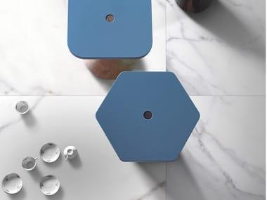 Pavimento/rivestimento in gres porcellanato smaltato effetto marmo METAFISICO