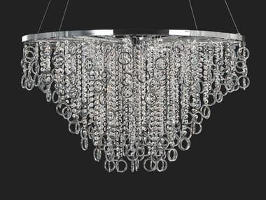 Lampada a sospensione in metallo con cristalli LISA | Lampada a sospensione in metallo
