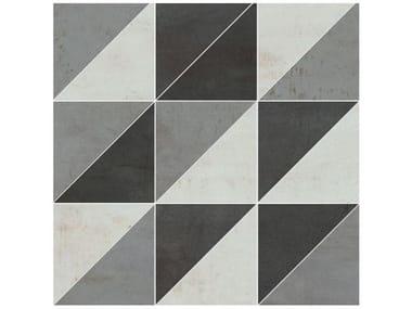 Pavimento/rivestimento in gres porcellanato METALLICA | Mosaico acciaio mix