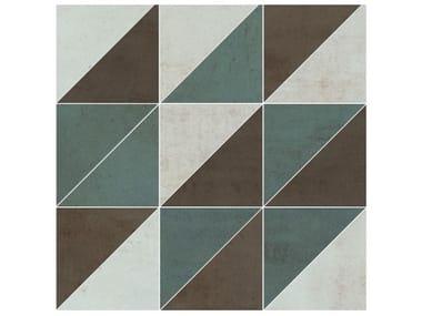 Pavimento/rivestimento in gres porcellanato METALLICA | Mosaico bronzo mix