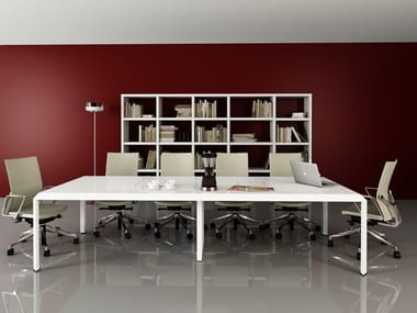 Lacquered rectangular meeting table METIS | Meeting table