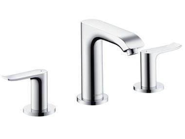 3 hole chromed brass washbasin tap METRIS 100 | 3 hole washbasin tap