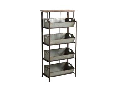 Tall storage bathroom cabinet INDUSTRIALIS | Open bathroom cabinet