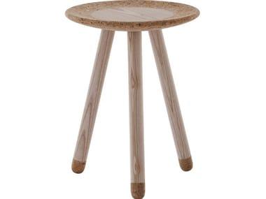 Round wooden coffee table MEZZA